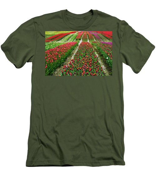 Endless Waves Of Tulips Men's T-Shirt (Athletic Fit)