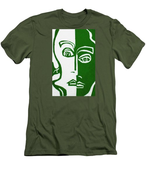 Men's T-Shirt (Slim Fit) featuring the painting Envy by Donna Tucker