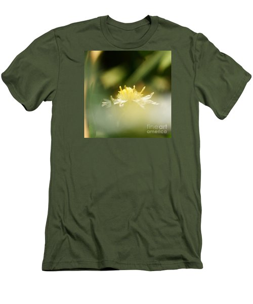 Men's T-Shirt (Slim Fit) featuring the photograph Enwrapped In Misty Shroud by Linda Shafer