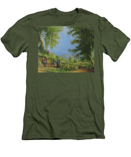 Evening In The Shire. Men's T-Shirt (Slim Fit) by Joe  Gilronan