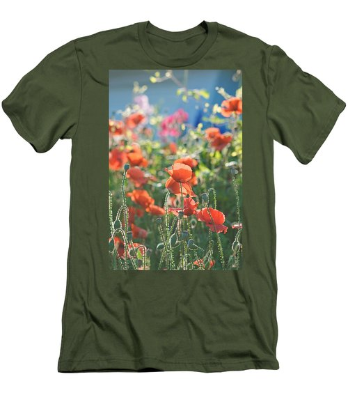 Evening Lights The Poppies Men's T-Shirt (Athletic Fit)