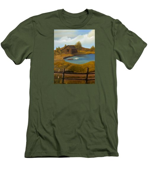 Evening Solitude Men's T-Shirt (Slim Fit) by Sheri Keith