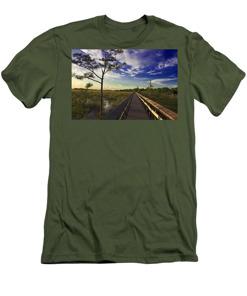 Everglades  Men's T-Shirt (Slim Fit) by Swank Photography