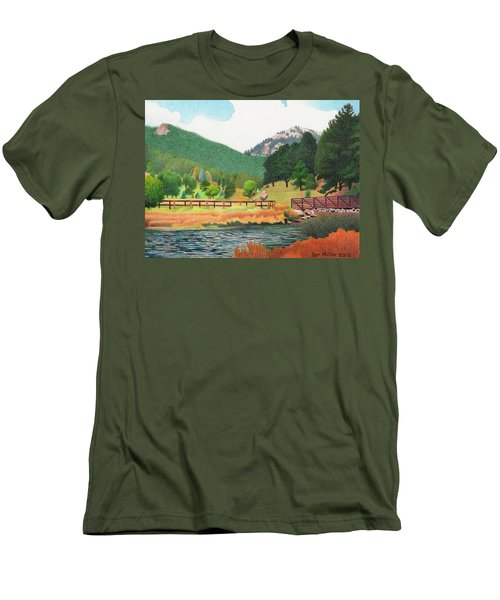 Evergreen Lake Spring Men's T-Shirt (Slim Fit) by Dan Miller