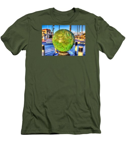 Men's T-Shirt (Slim Fit) featuring the photograph Everyone Is Welcome At The Beach by Jim Carrell