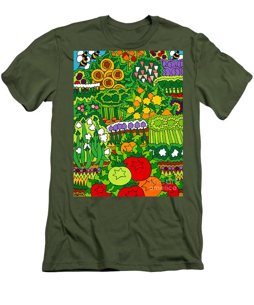 Eve's Garden Men's T-Shirt (Slim Fit) by Rojax Art