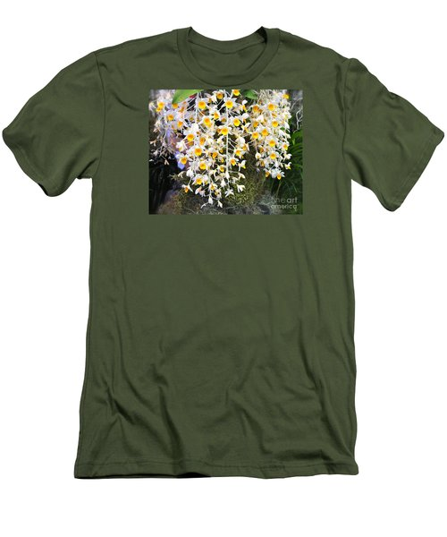 Exotic Aerides Men's T-Shirt (Slim Fit) by The Art of Alice Terrill