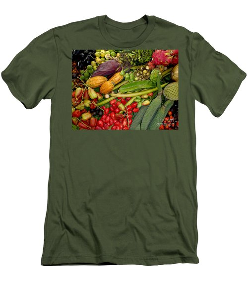 Exotic Fruits Men's T-Shirt (Slim Fit) by Carey Chen