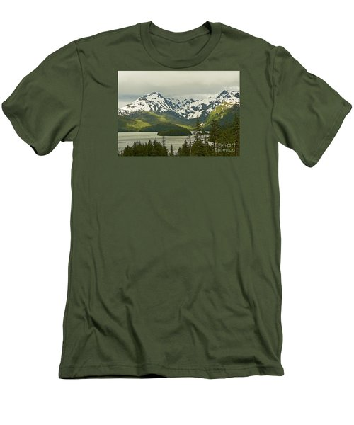 Eyak Lake Landscape Men's T-Shirt (Athletic Fit)