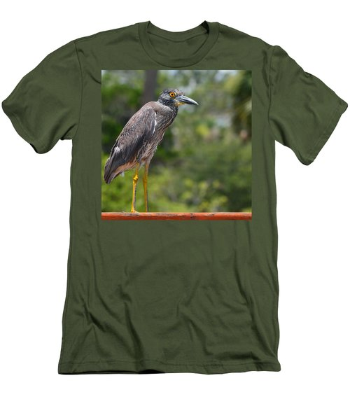 Men's T-Shirt (Slim Fit) featuring the photograph Eye To Lens by DigiArt Diaries by Vicky B Fuller
