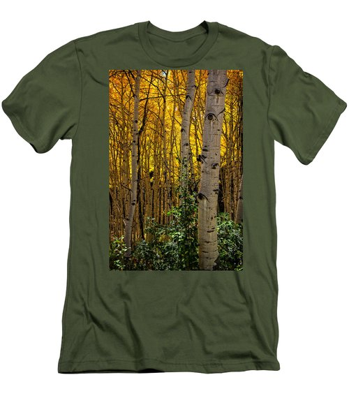 Men's T-Shirt (Slim Fit) featuring the photograph Eyes Of The Forest by Ken Smith