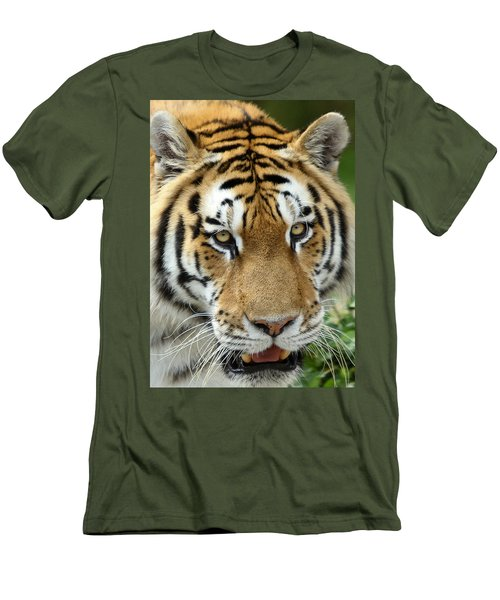 Men's T-Shirt (Slim Fit) featuring the photograph Eyes Of The Tiger by John Haldane
