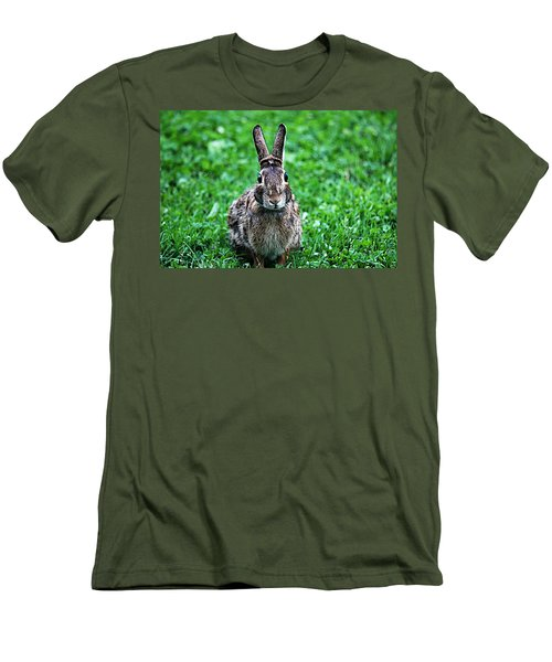 Men's T-Shirt (Slim Fit) featuring the photograph Eyes Wide Open by Trina  Ansel