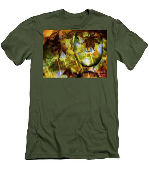 Face In The Rock Dreams Of Tulips Men's T-Shirt (Slim Fit) by Elizabeth McTaggart