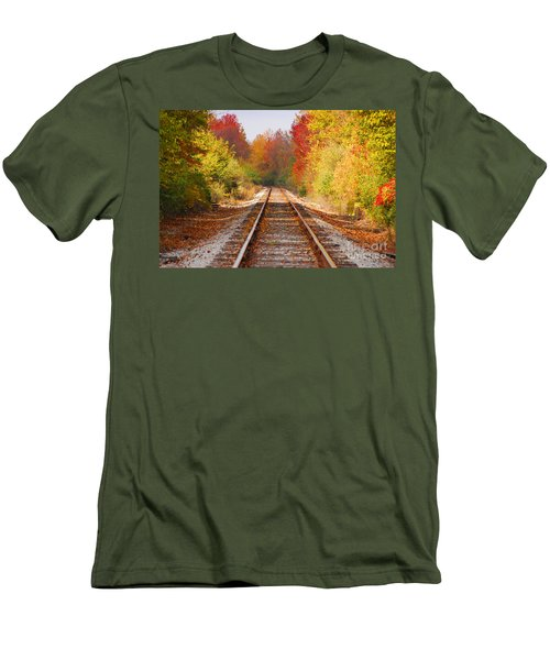 Fading Tracks Men's T-Shirt (Athletic Fit)