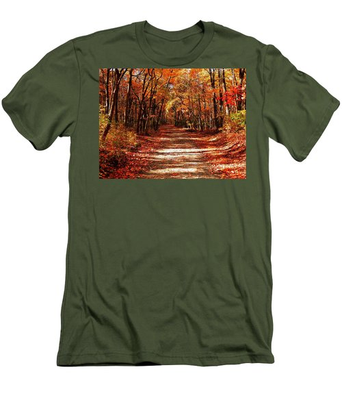 Men's T-Shirt (Slim Fit) featuring the photograph Fall At Cheesequake by Raymond Salani III