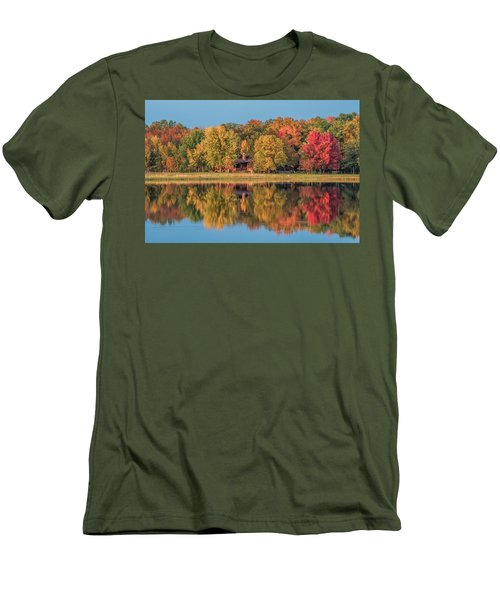 Fall Colors In Cabin Country Men's T-Shirt (Athletic Fit)
