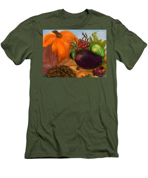 Fall Festival Men's T-Shirt (Slim Fit) by Christine Fournier