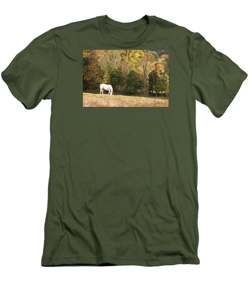 Men's T-Shirt (Slim Fit) featuring the photograph Fall Grazing by Joan Davis