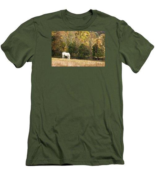 Fall Grazing Men's T-Shirt (Slim Fit) by Joan Davis