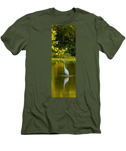 Fall Heron Men's T-Shirt (Athletic Fit)