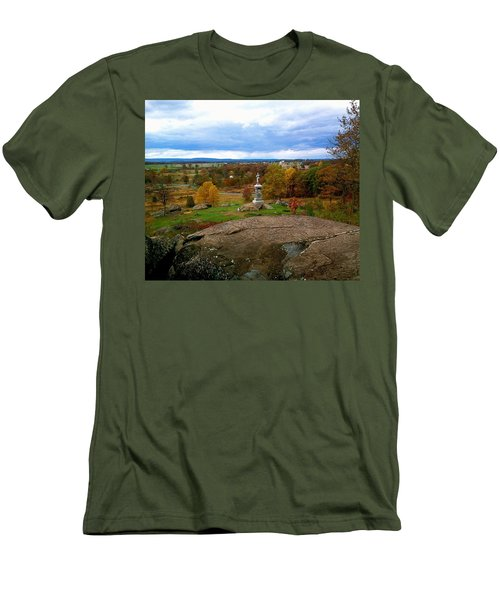 Fall In Gettysburg Men's T-Shirt (Slim Fit) by Amazing Photographs AKA Christian Wilson