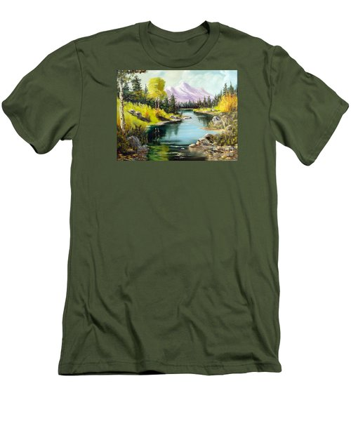 Fall In The Rockies Men's T-Shirt (Slim Fit) by Lee Piper