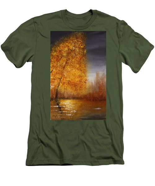 Fall Lake Reflections Men's T-Shirt (Athletic Fit)