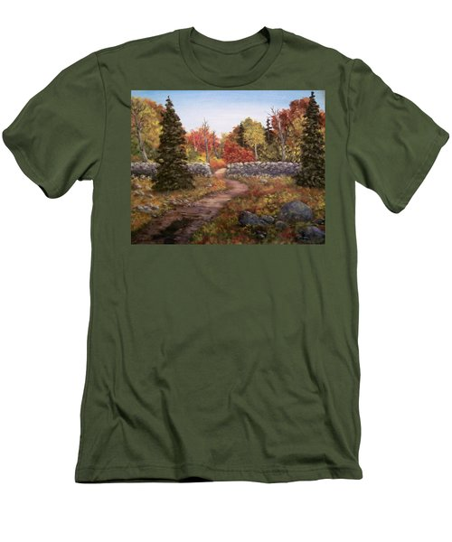 Fall Path Men's T-Shirt (Athletic Fit)