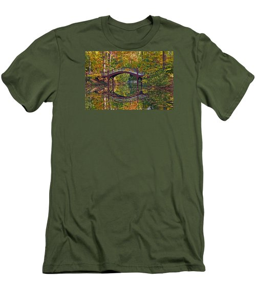 Men's T-Shirt (Slim Fit) featuring the photograph Fall Reflections At Crim Dell by Jerry Gammon