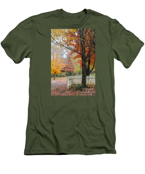 Fall Tranquility Men's T-Shirt (Slim Fit) by Debbie Green