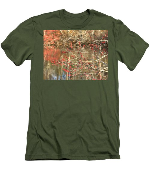 Fall Upon The Water Men's T-Shirt (Slim Fit) by Bruce Carpenter