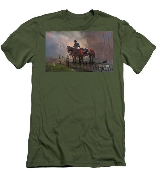 Men's T-Shirt (Slim Fit) featuring the painting Fallen Comrade by Rob Corsetti