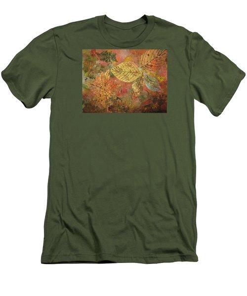 Fallen Leaves II Men's T-Shirt (Athletic Fit)