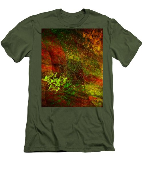 Men's T-Shirt (Slim Fit) featuring the mixed media Fallen Seasons by Ally  White