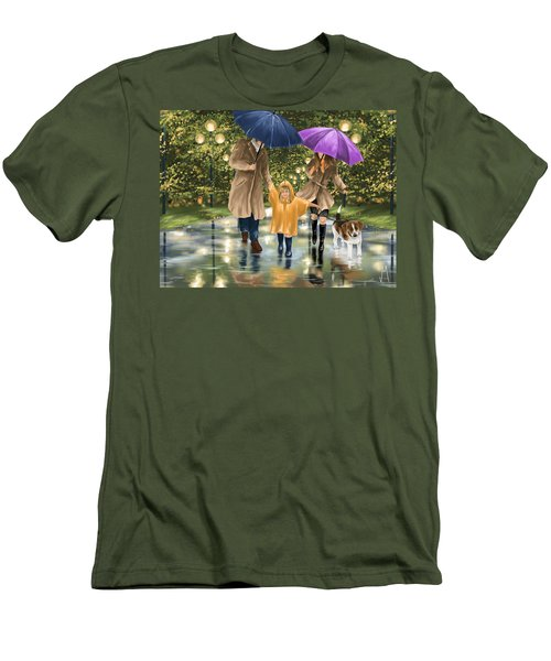 Family Men's T-Shirt (Slim Fit) by Veronica Minozzi