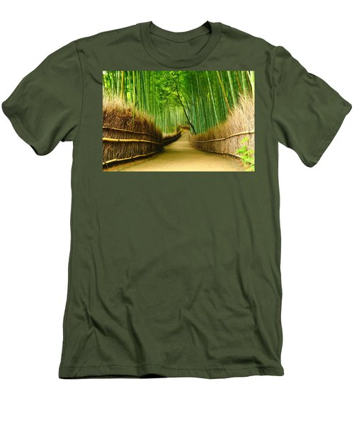 Famous Bamboo Grove At Arashiyama Men's T-Shirt (Athletic Fit)