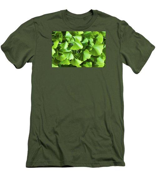 Fan Shaped Leaves Men's T-Shirt (Athletic Fit)