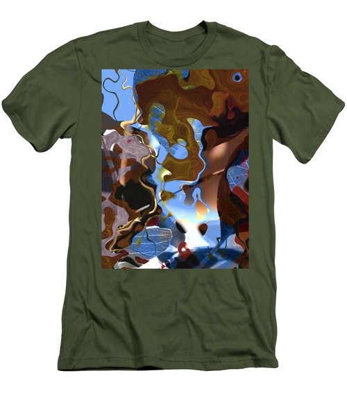Men's T-Shirt (Slim Fit) featuring the digital art Fargo by Richard Thomas