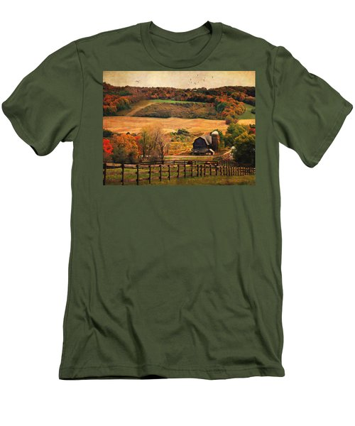 Farm Country Autumn - Sheldon Ny Men's T-Shirt (Athletic Fit)