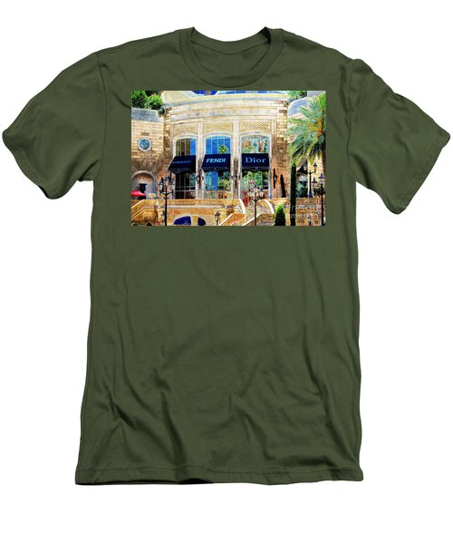 Fashion Vegas Style Men's T-Shirt (Slim Fit) by Barbara Chichester