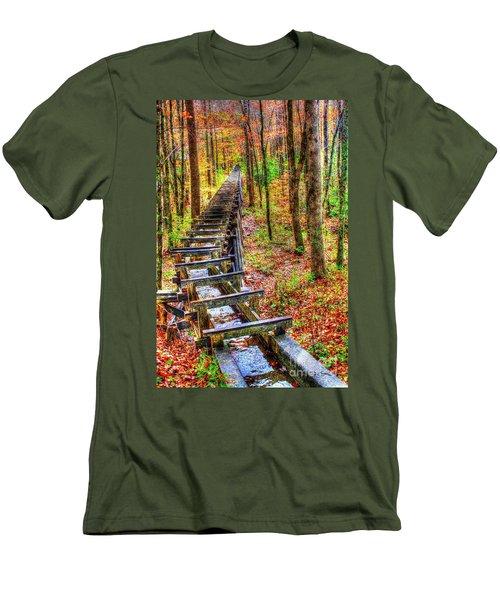 Feed The Wheel Men's T-Shirt (Slim Fit) by Dan Stone