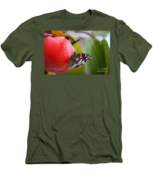 Men's T-Shirt (Slim Fit) featuring the photograph Feeding Time by Erika Weber