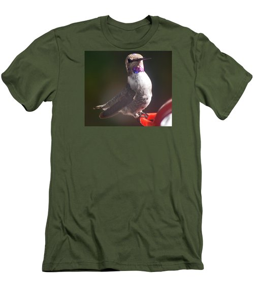 Men's T-Shirt (Slim Fit) featuring the photograph Female Anna On Perch by Jay Milo