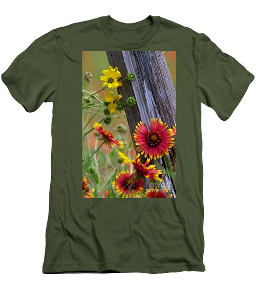 Fenceline Wildflowers Men's T-Shirt (Athletic Fit)