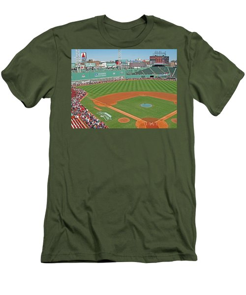 Men's T-Shirt (Slim Fit) featuring the photograph Fenway One Hundred Years by Barbara McDevitt
