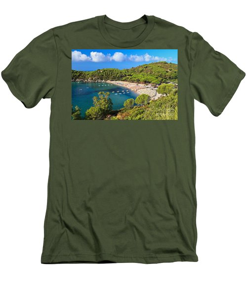 Fetovaia Beach - Elba Island Men's T-Shirt (Athletic Fit)