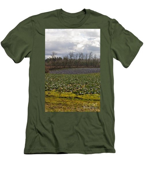 Men's T-Shirt (Slim Fit) featuring the photograph Field Of Color 2 by Belinda Greb