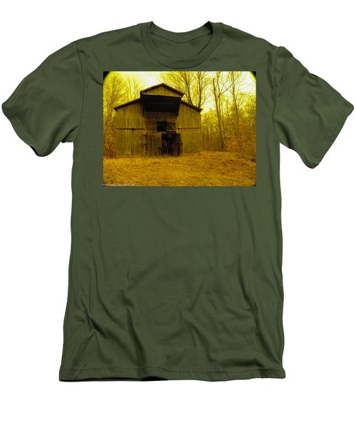Men's T-Shirt (Slim Fit) featuring the photograph Filtered Barn by Nick Kirby