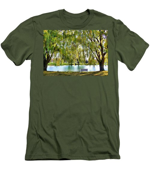 Finger Lakes Weeping Willows Men's T-Shirt (Athletic Fit)